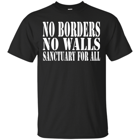 No Borders No Walls Sanctuary For All Sanctuary Cities Human Rights Shirt