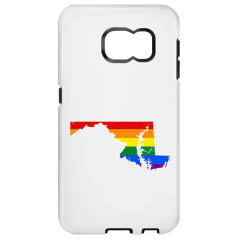 Maryland Rainbow Flag LGBT Community Pride LGBT Shirts  Samsung Galaxy S6 Tough