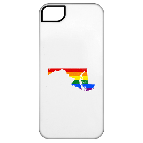 Maryland Rainbow Flag LGBT Community Pride LGBT Shirts  iPhone 5 Tough Case
