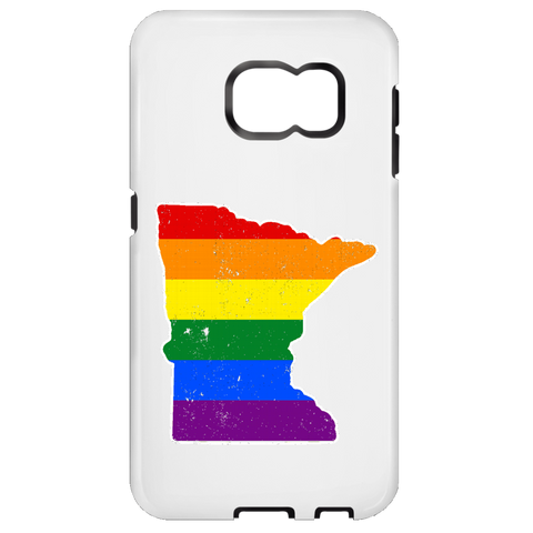 Minnesota Rainbow Flag LGBT Community Pride LGBT Shirts  Samsung Galaxy S6 Tough