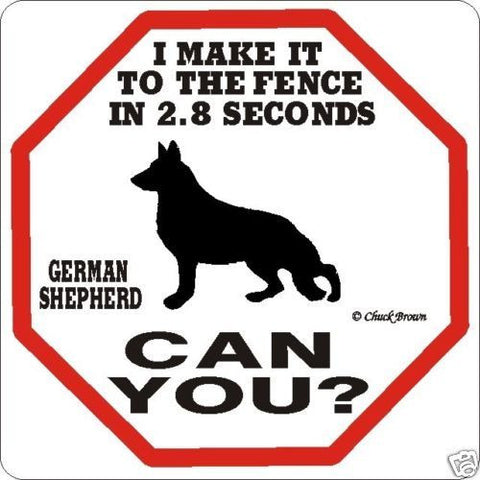 FREE SHIPPING German Shepherd 2.8 Dog Sign Funny Warning Caution New