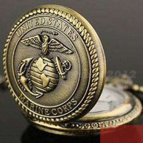 Bronze Marine Corp Quartz Pocket Watch-Free Shipping - Shoppzee
