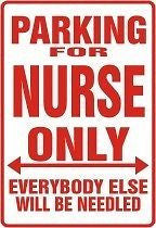 Mini Nurse Parking Sign Magnet - Free Shipping