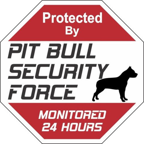 Pit Bull Security Force Dog Sign Free Shipping