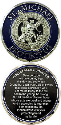 Policeman Prayer Coin - Free Shipping