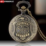 Police Vintage Bronze Pocket Watch - Free Shipping