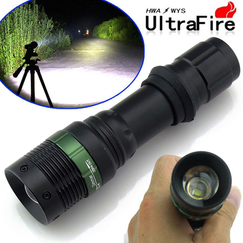 Ultrafire Cree XM-L T6 Zoomable 2000 Lumen Tactical LED Flashlight Torch Lamp- Free shipping - Shoppzee