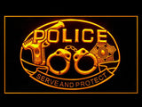 Police To Serve & Protect LED Light Sign - Free Shipping