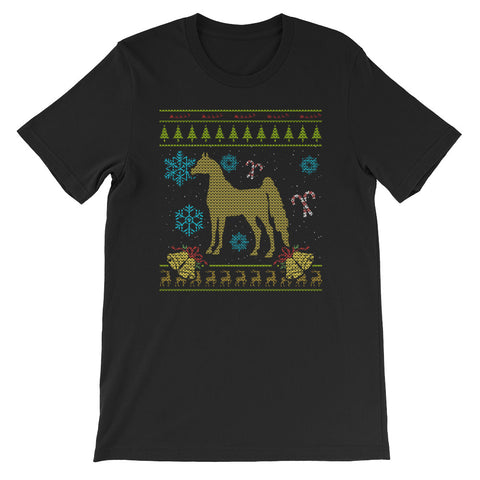 Ugly Christmas Sweaters Design Arabian Horse Rider Design
