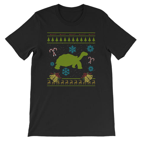 Tortoise Christmas Sweater Design Sulcata Tortoise Design