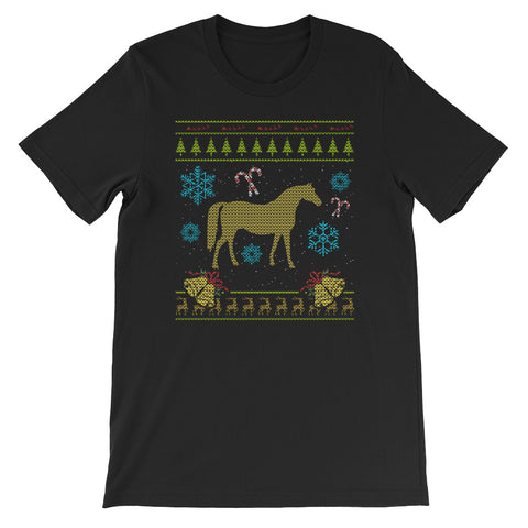 Ugly Christmas Sweaters Design American Indian Horse Design