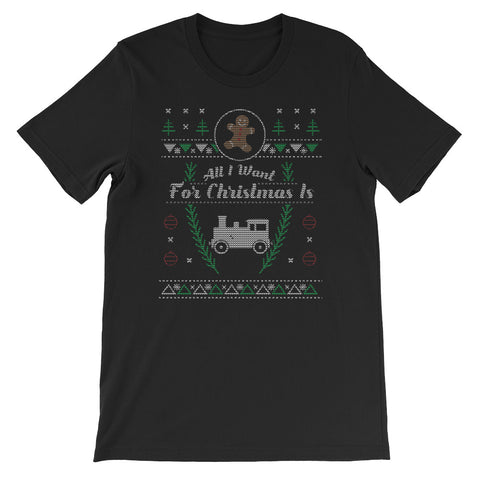 Toy Trains Christmas Ugly Design