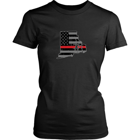 Rhode Island Firefighter Thin Red Line