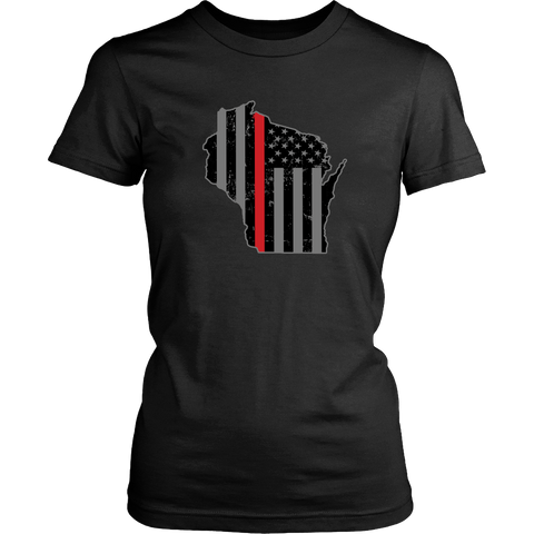 Wisconsin Firefighter Thin Red Line - Shoppzee
