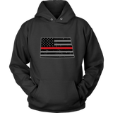 North Dakota Firefighter Thin Red Line