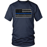 Kansas Thin Blue Line Tee