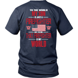 My Firefighter Son Firefighter Thin Red Line Firefighter Support