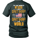 Sister Sheriff Deputy (backside design)