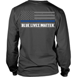 Blue Lives Matter (back) - Shoppzee