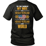 Wife Highway Patrolman (backside design) - Shoppzee