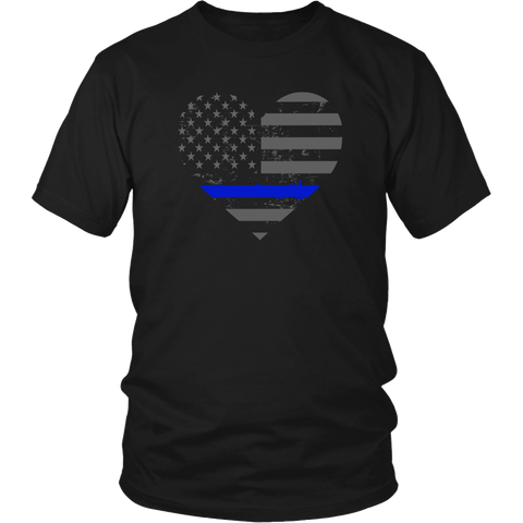 Thin Blue Line Valentines Day Police and LEO Shirt