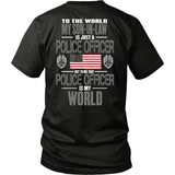 Police Officer Son-In-Law (backside design only)