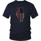 Illinois Firefighter Thin Red Line