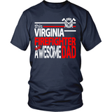 Awesome Virginia Firefighter Dad - Shoppzee