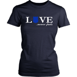 Police Law Enforcement Love Never Fails Valentines T Shirt
