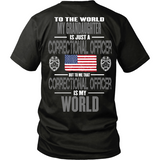 My Grandaughter The Correctional Officer (backside design)
