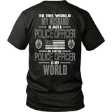 Husband Police Officer (backside design only)