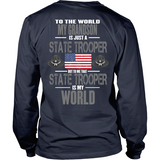 Grandson State Trooper (backside design only)