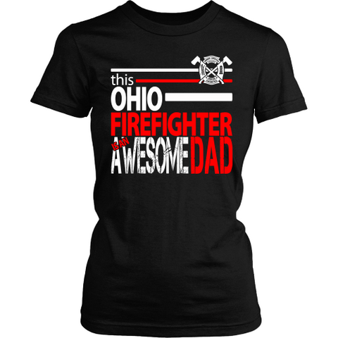 Awesome Ohio Firefighter Dad - Shoppzee