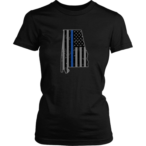 Alabama Thin Blue Line Tee - Shoppzee