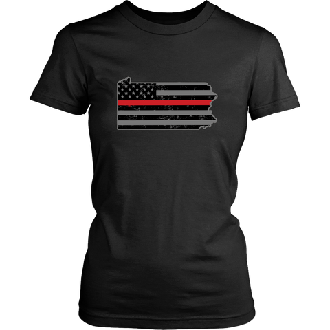 Pennsylvania Firefighter Thin Red Line