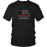 Iowa Firefighter Thin Red Line
