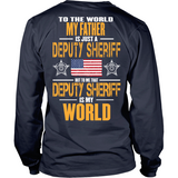 Father Sheriff Deputy (backside design only) - Shoppzee