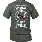My Aunt the Mechanic (backside design)