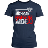 Awesome Michigan Firefighter Dad - Shoppzee
