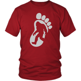 Bigfoot and a Big Foot on Front of Shirt - Shoppzee