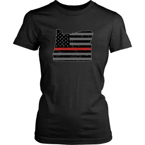 Oregon Firefighter Thin Red Line