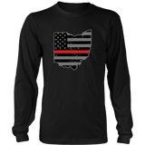 Ohio Firefighter Thin Red Line