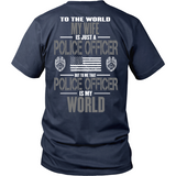 Wife Police Officer (backside design) - Shoppzee