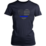 Police Thin Blue Line Heart