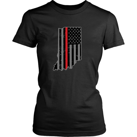 Indiana Firefighter Thin Red Line