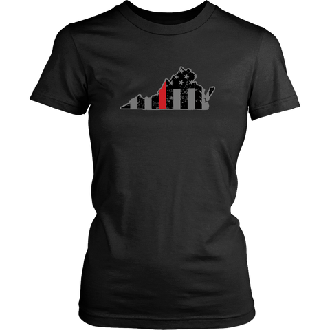 Virginia Firefighter Thin Red Line - Shoppzee