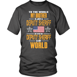 Deputy Sheriff Brother (front side design only) - Shoppzee