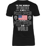 Brother Police Officer (backside design) - Shoppzee