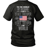 Husband State Trooper (backside design only)