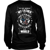 My Father the Mechanic (backside design)